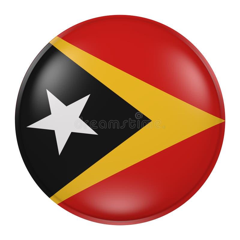 Silhueta do botão de Timor Leste ilustração do vetor