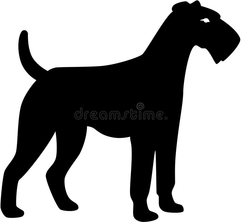 Silhueta do cão ilustração do vetor