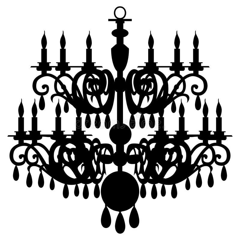Silhueta do candelabro do vetor ilustração royalty free