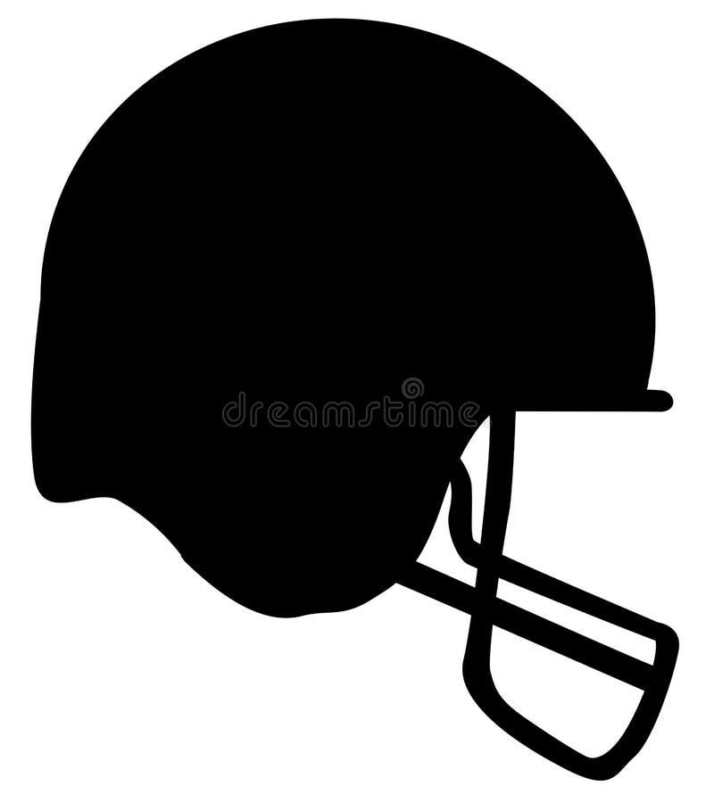 Silhueta do capacete de futebol ilustração do vetor