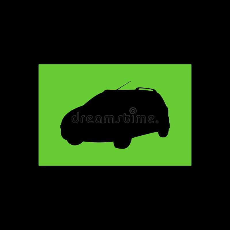 Silhueta do carro da cidade no vetor fotografia de stock royalty free