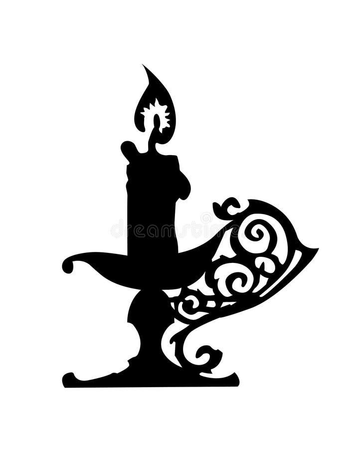 Silhueta do castiçal ilustração do vetor