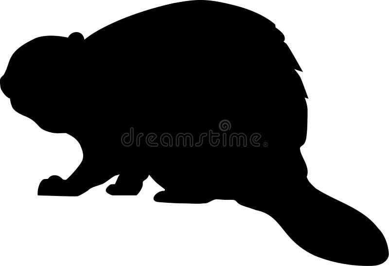 Silhueta do castor ilustração stock