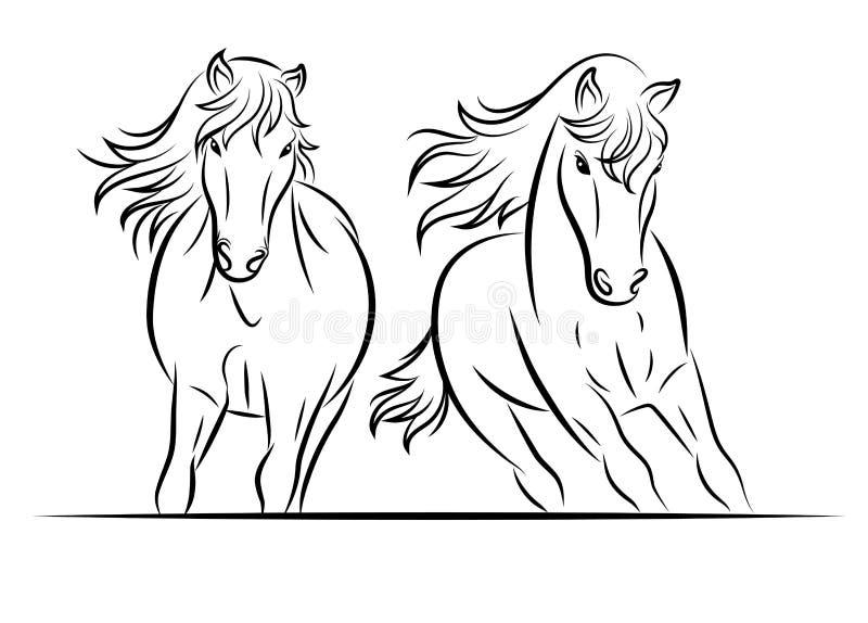 Silhueta do cavalo ilustração stock