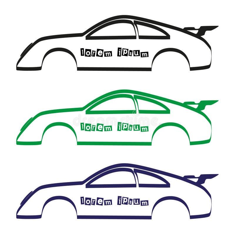 Silhueta do corpo de carro para seu uso comercial eps10 ilustração stock