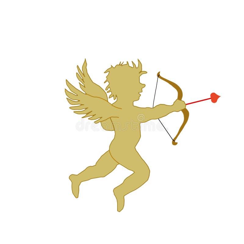 Silhueta do Cupid ilustração do vetor