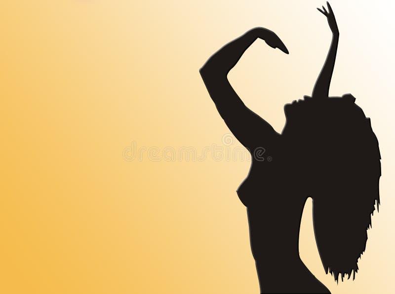 Silhueta do dançarino ilustração royalty free