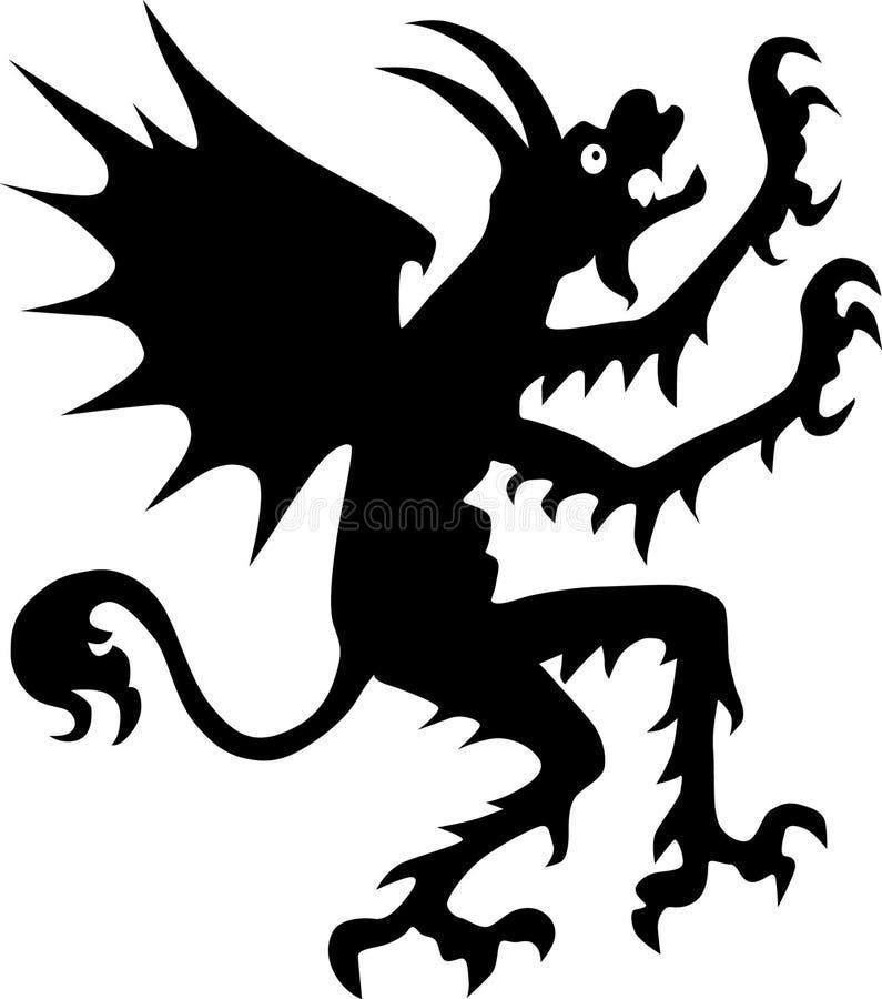 Silhueta do diabo ilustração stock