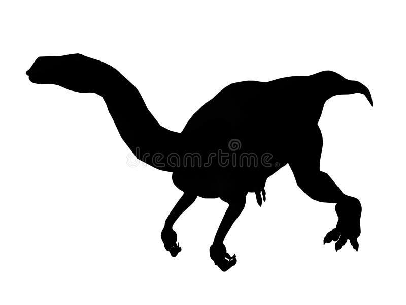 Silhueta Do Dinossauro Mim Imagem de Stock