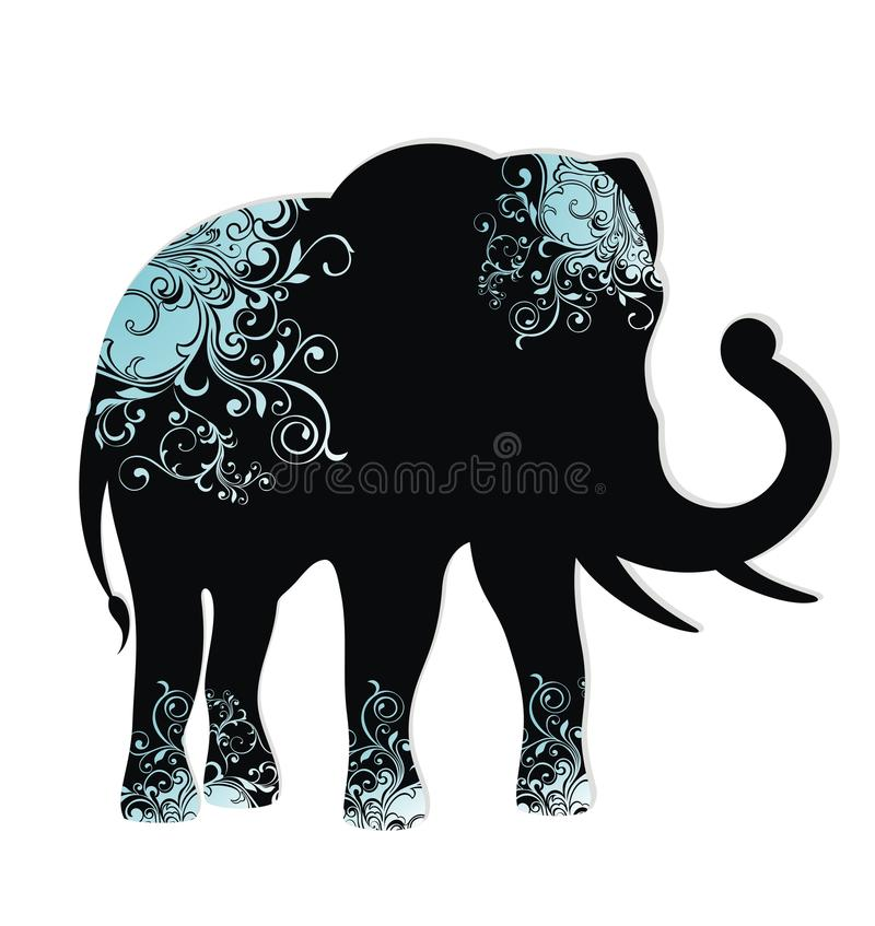 A silhueta do elefante ilustração do vetor