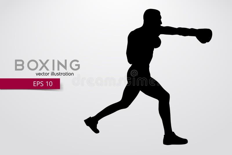 Silhueta do encaixotamento boxing Ilustração do vetor