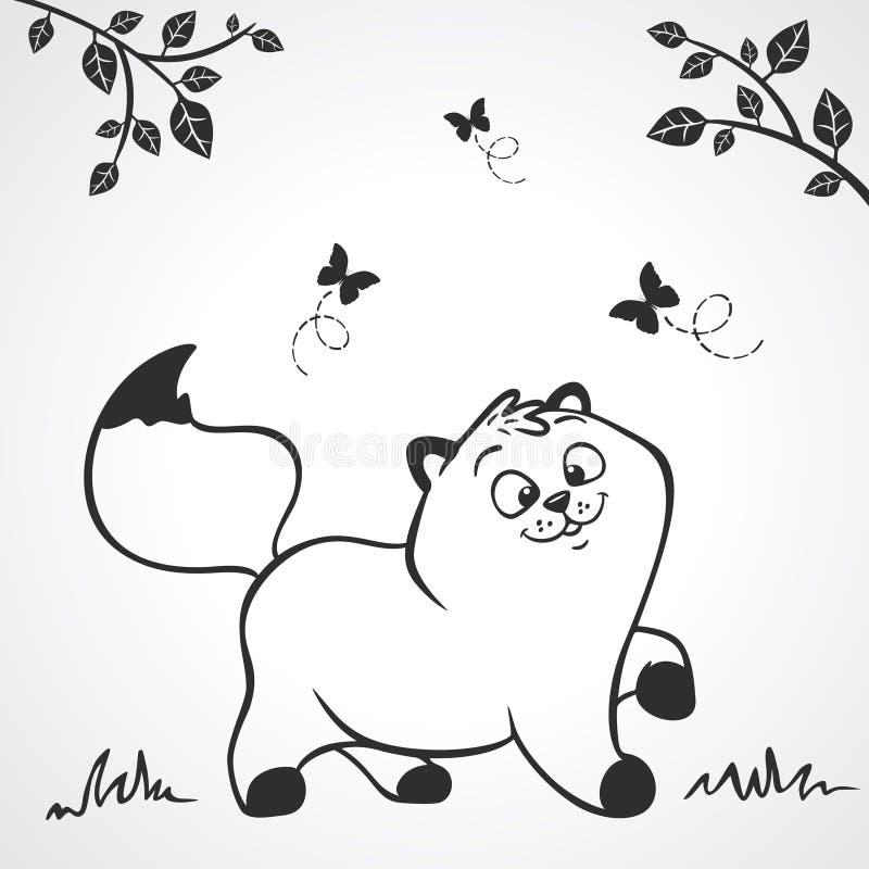 Silhueta do gatinho ilustração royalty free