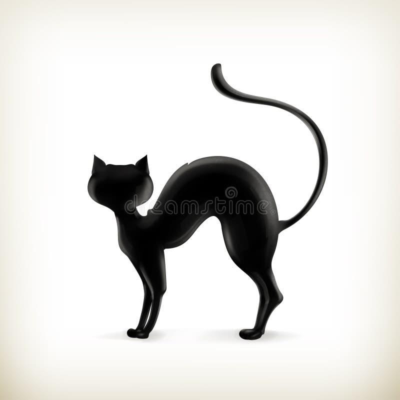Silhueta do gato ilustração royalty free