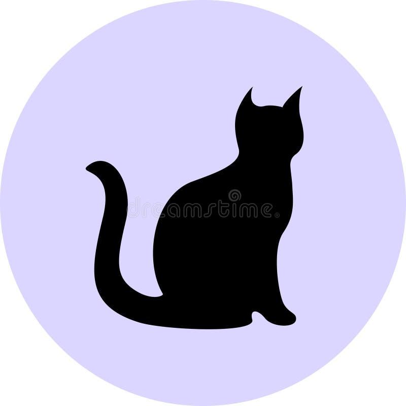 Silhueta do gato preto ilustração do vetor