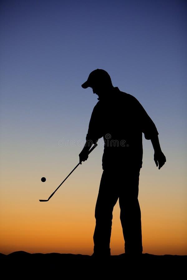 Silhueta do golfe fotos de stock