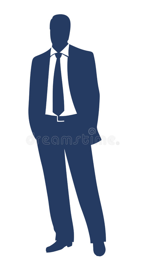 Silhueta do homem de negócios ilustração do vetor