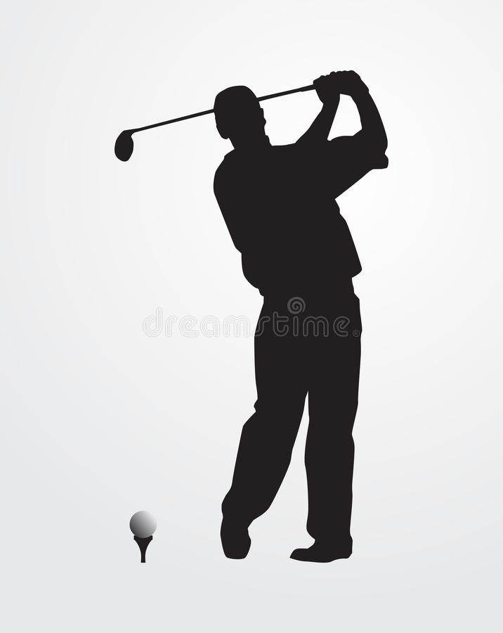 Silhueta do jogador de golfe