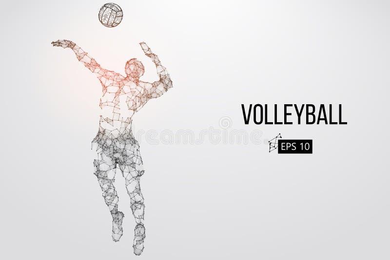 Silhueta do jogador de voleibol Ilustração do vetor