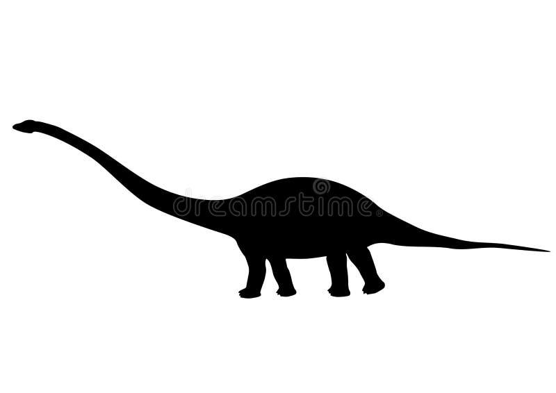 Silhueta do Mamenchisaurus ilustração royalty free