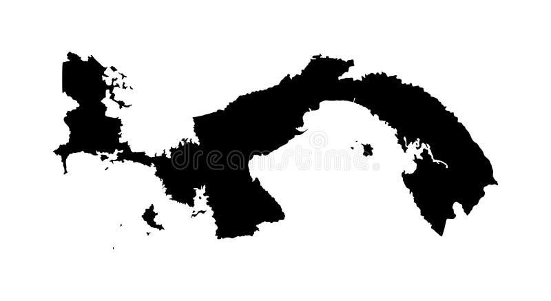 Silhueta do mapa de Panamá ilustração royalty free