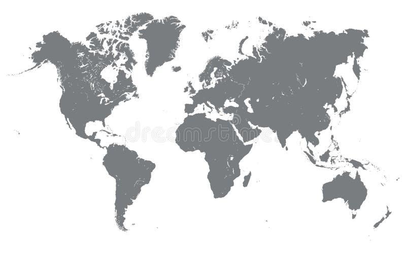 Silhueta do mapa do mundo ilustração do vetor