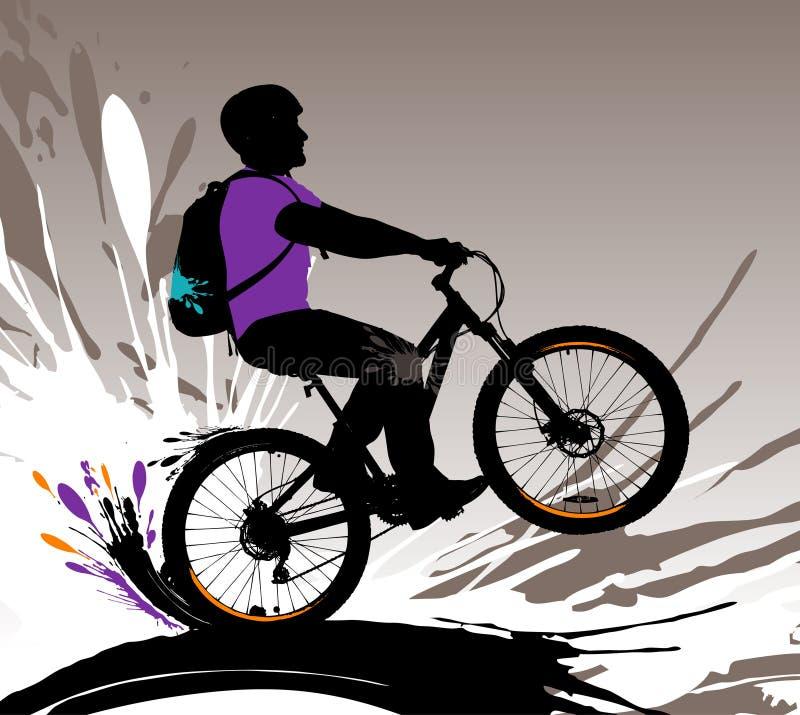 Silhueta do motociclista. ilustração stock