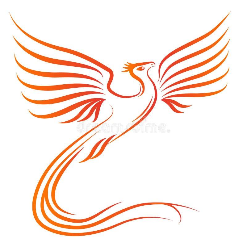 Silhueta do pássaro de Phoenix ilustração do vetor