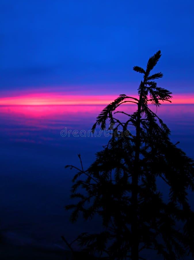 Download Silhueta Do Por Do Sol Dos Grandes Lagos Foto de Stock - Imagem de esboço, calma: 65580012