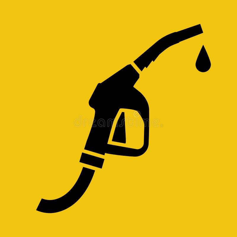 Silhueta do preto do ícone da bomba de combustível ilustração stock
