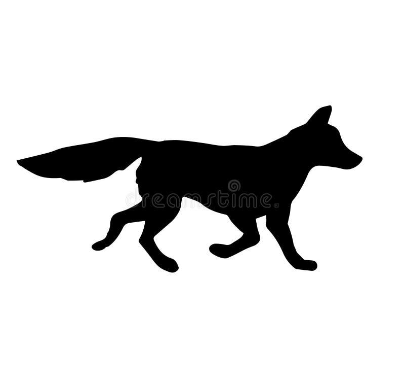 Silhueta do preto do vetor da raposa ilustração do vetor