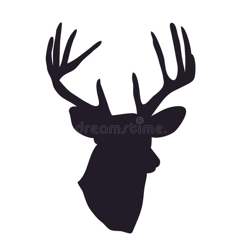 Silhueta do retrato dos cervos, vetor imagens de stock royalty free