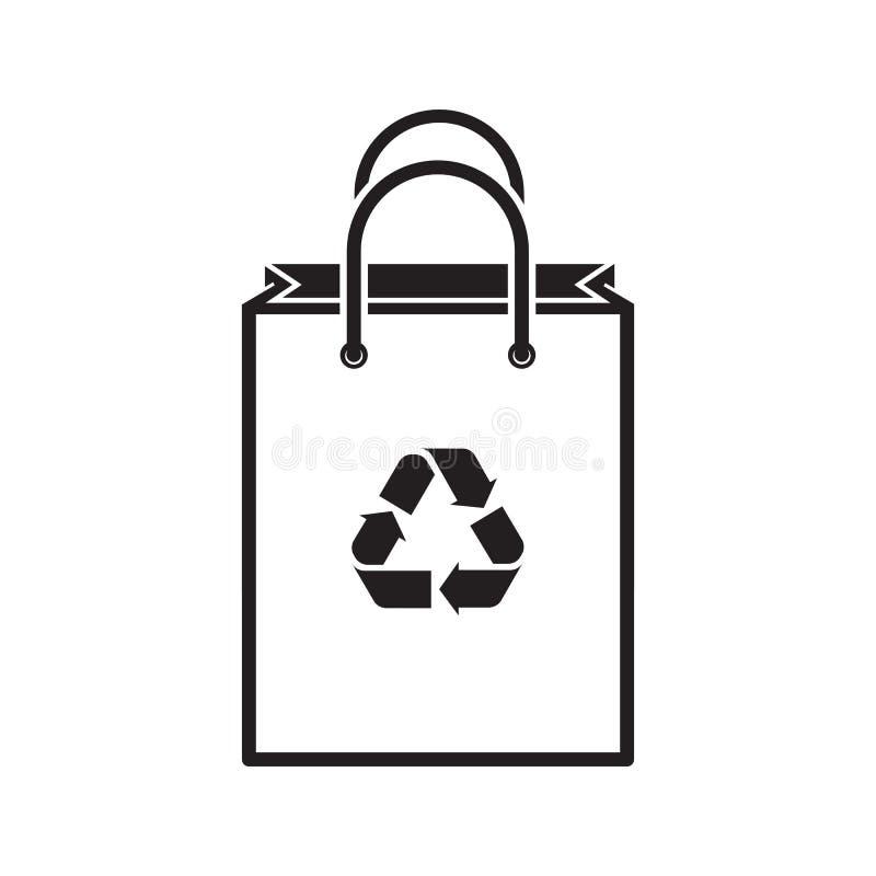 Silhueta do saco de compras ilustração do vetor