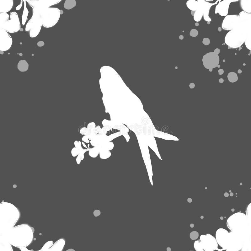 Silhueta do teste padr?o de um p?ssaro e as cores do branco em um fundo brilhante, voc? pode usar-se na tela ilustração do vetor