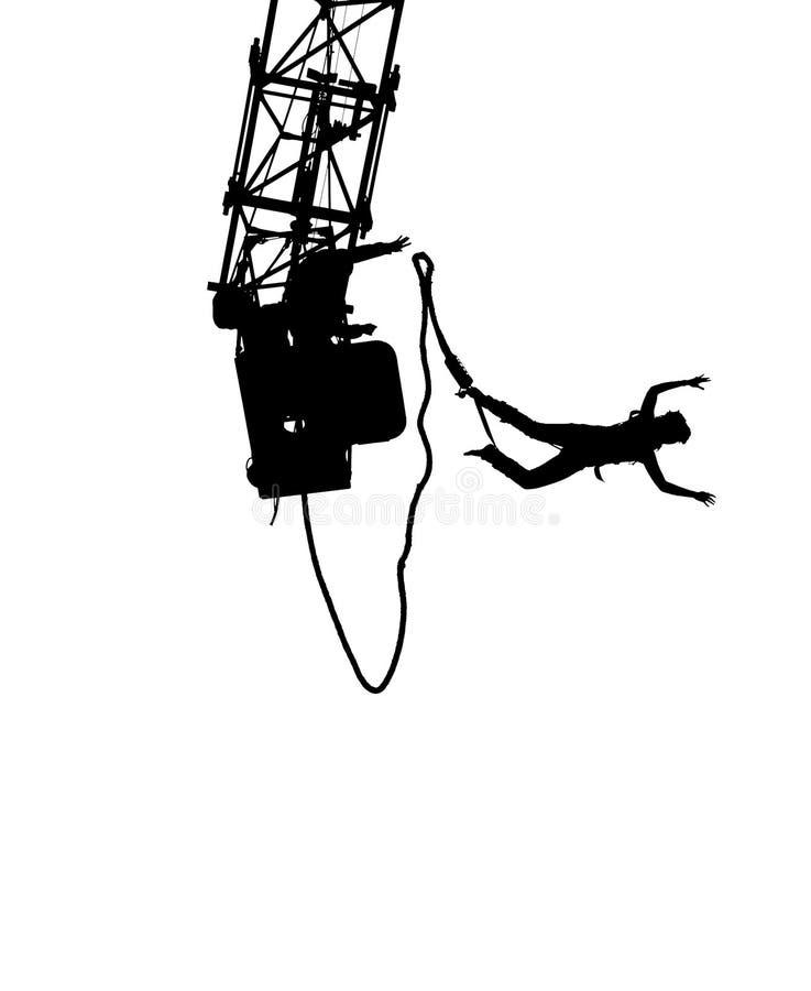 Silhueta do tirante com mola ilustração stock