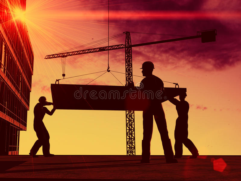 Silhueta do trabalhador ilustração do vetor