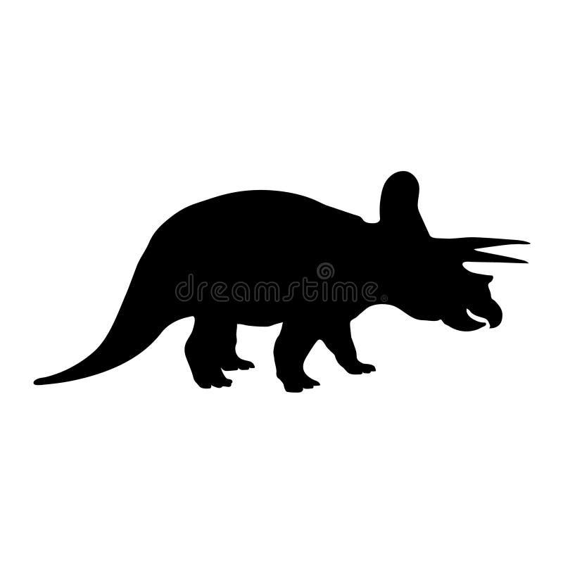 Silhueta do Triceratops ilustração royalty free
