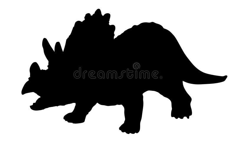 Silhueta do Triceratops ilustração stock