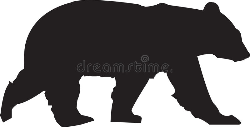 Silhueta do urso foto de stock royalty free