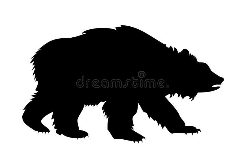 Silhueta Do Urso Fotos de Stock Royalty Free