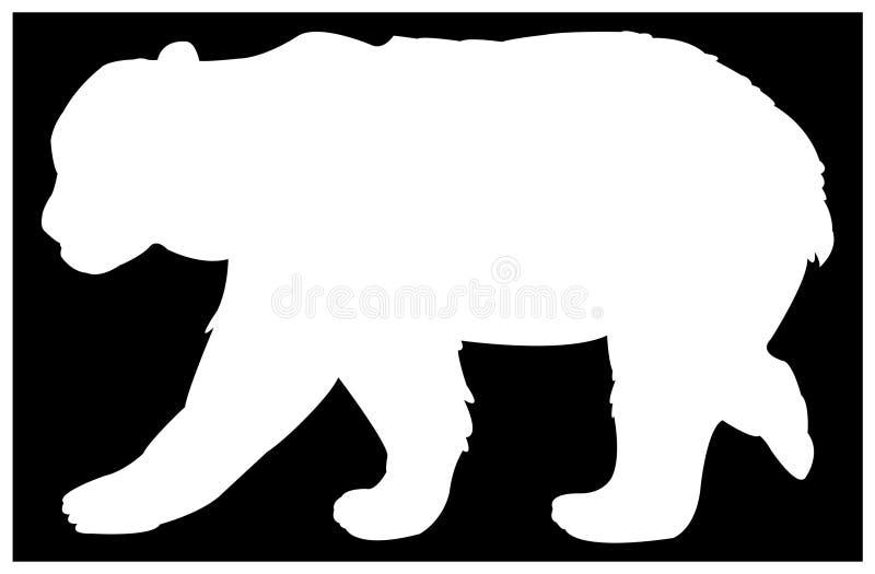Silhueta do urso - animal dos animais selvagens ilustração do vetor