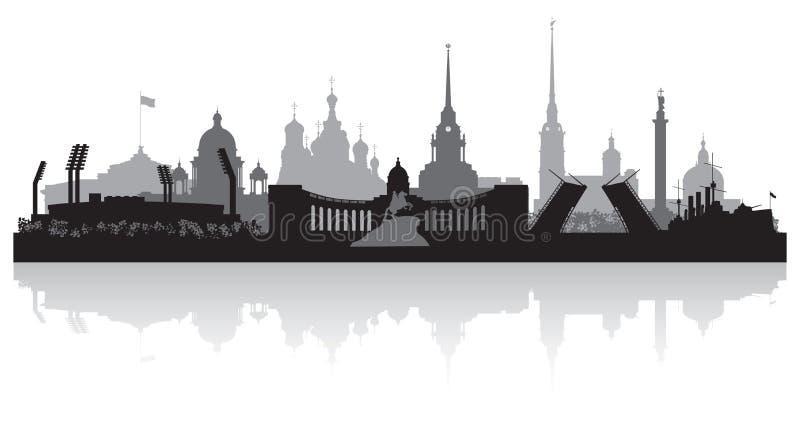 Silhueta do vetor da skyline da cidade de St Petersburg ilustração do vetor