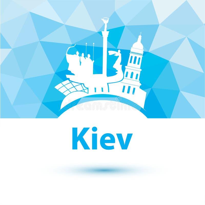 Silhueta do vetor de Kiev ilustração stock