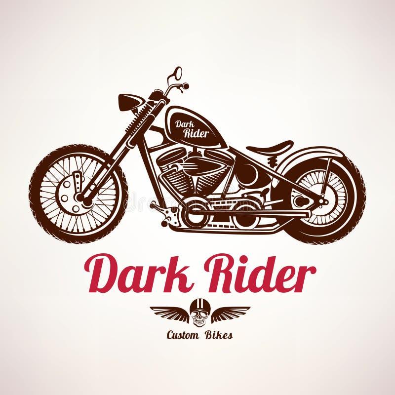 Silhueta do vetor do grunge da motocicleta ilustração royalty free
