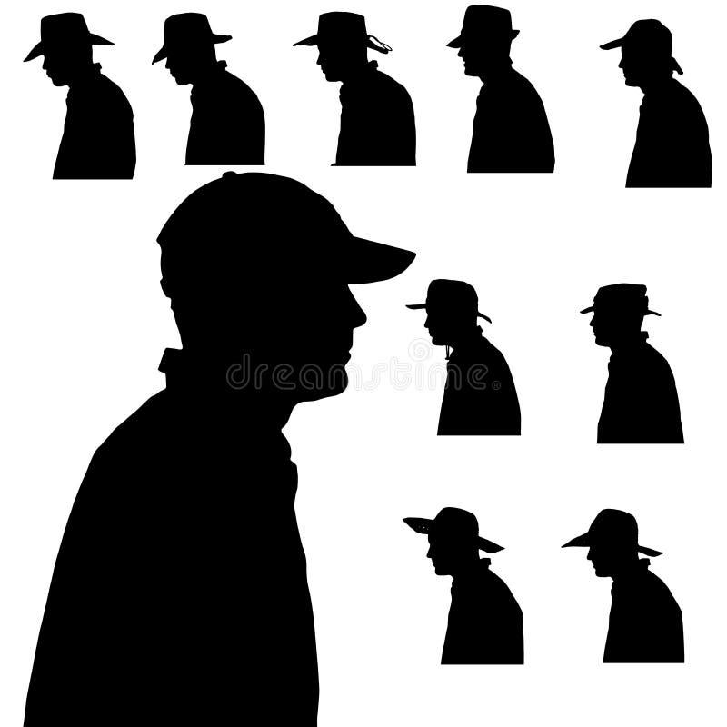 Silhueta do vetor do homem ilustração royalty free