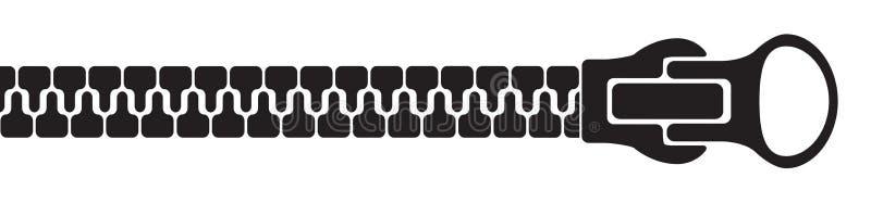 Silhueta do zíper - vetor conservado em estoque ilustração stock