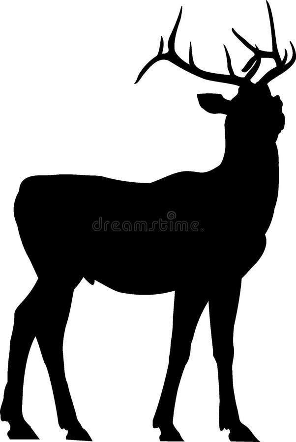 Silhueta dos cervos ilustração royalty free