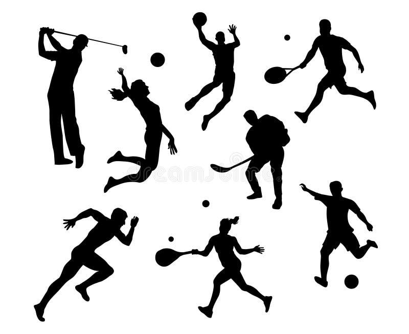 Silhueta eps dos esportes Ostenta a ilustração ilustração do vetor