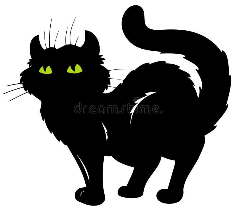 Silhueta ereta do gato ilustração do vetor