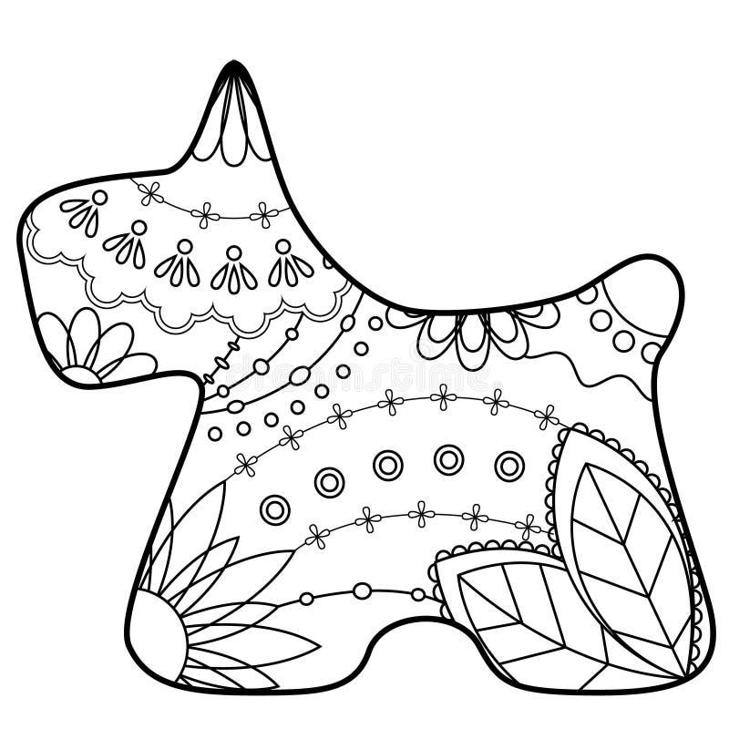 Download Silhueta Escocesa Da Coloração Do Terrier Ilustração Stock - Ilustração de elemento, flora: 80102863