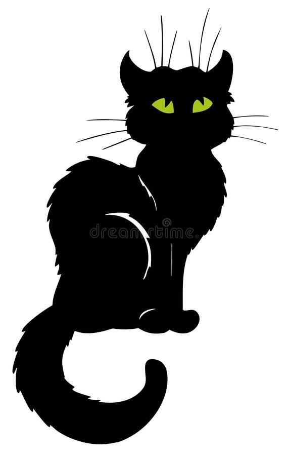 Silhueta escura do gato ilustração royalty free